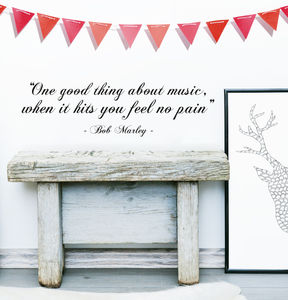 Bob Marley 'Good Thing…' Quote Wall Sticker