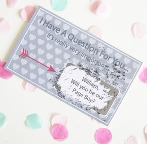 Personalised Will You Be Our Page Boy Scratch Card - keepsakes