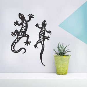 Gecko Wall Sticker Set - wall stickers