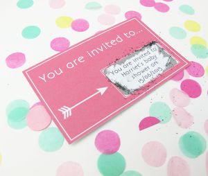 Personalised Baby Shower Scratch Card - shop by category