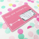 Personalised Baby Shower Scratch Card