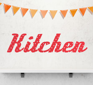 'Kitchen' Retro Vinyl Wall Sticker