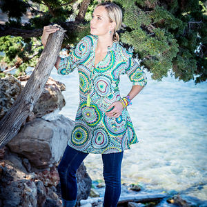 Cotton Tunic Shirt - tunics