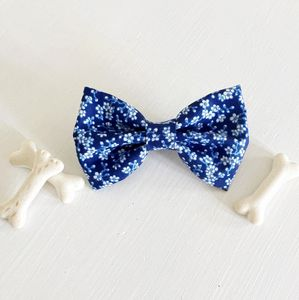Oriental Flower Dog Bow Tie - clothing & accessories