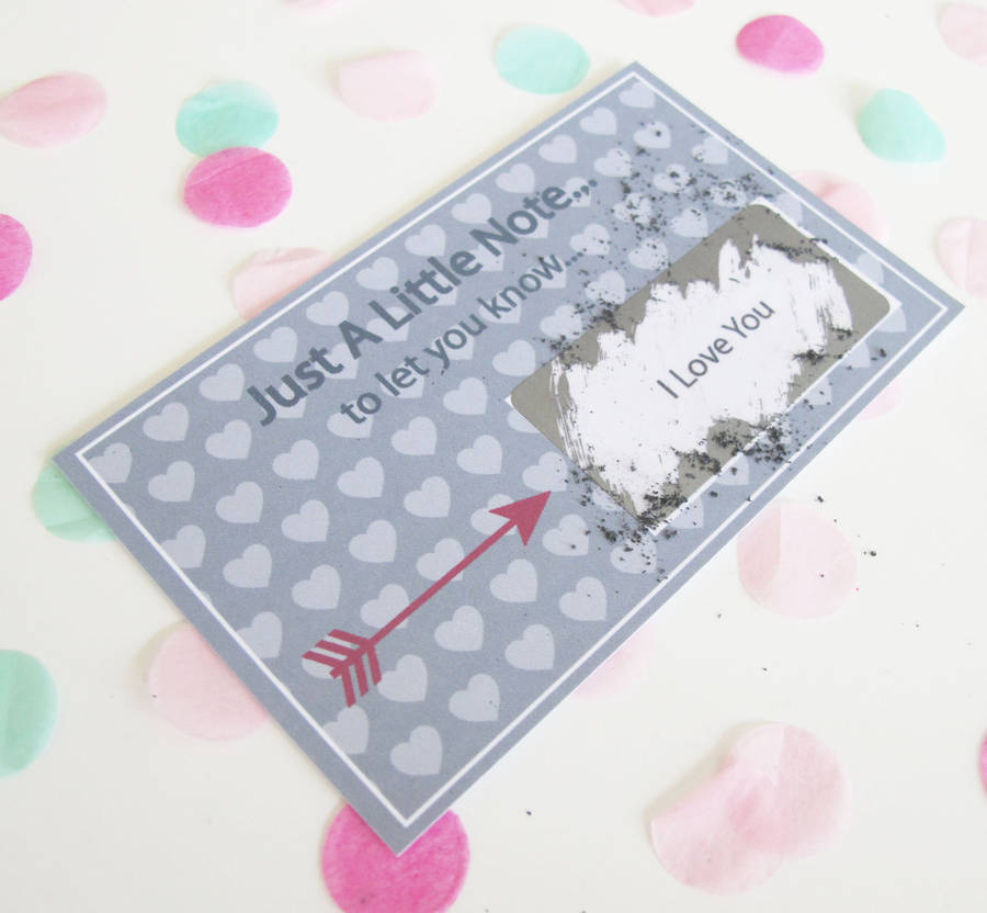 Personalised I Love You Scratch Card