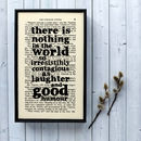 Charles Dickens Typographic Art Print