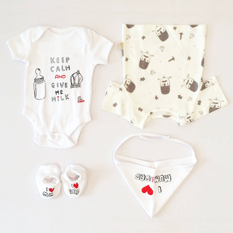 Baby Gift Set London : New born baby gift set by chewingum london
