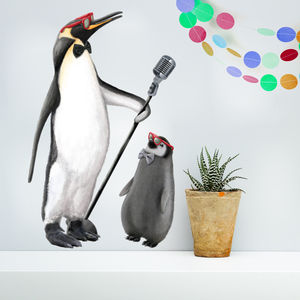 Cool Penguins Wall Sticker - christmas home accessories