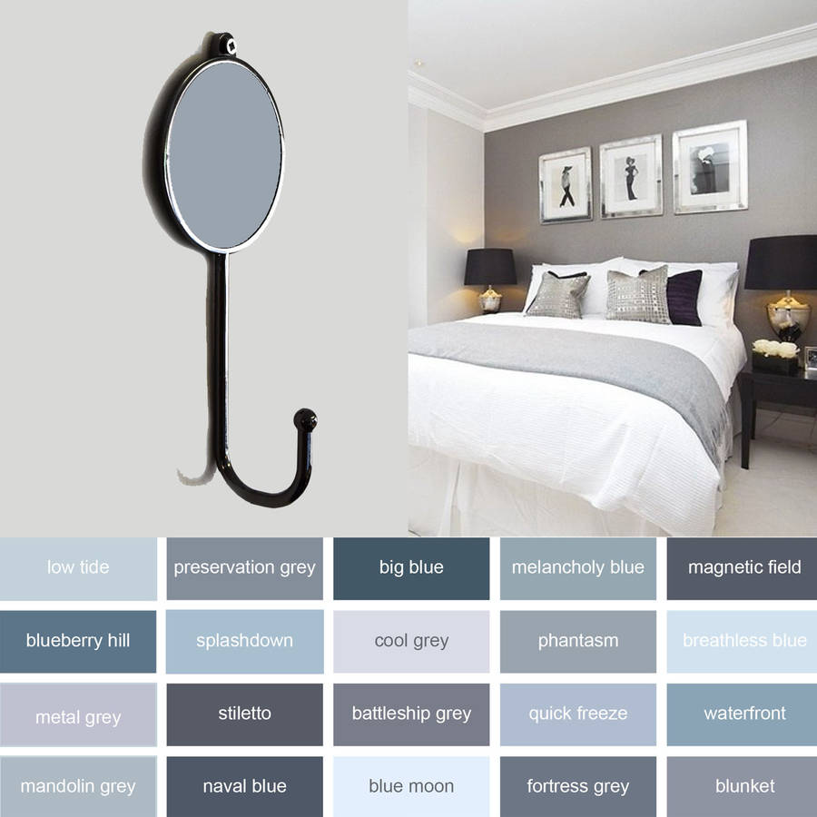 Wonderful Grey Colourful Bedroom Coat Hooks