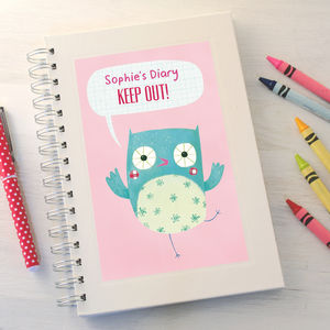 Personalised Girl's Notebook - writing & drawing