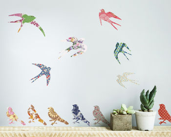 'Vintage Bird' Vinyl Wall Stickers