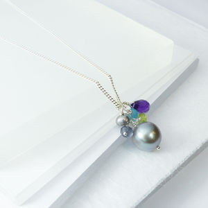Cluster Pearl Drop Pendant - necklaces & pendants
