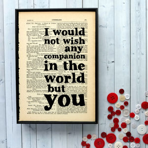 Wedding Shakespeare Print - art & pictures