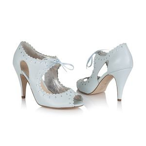 Amelie Lace Up Shoes - bridal shoes
