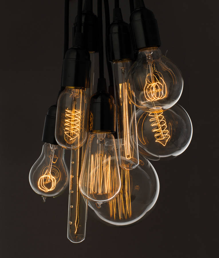 Vintage light bulb by dowsing reynolds for Suspension luminaire cage