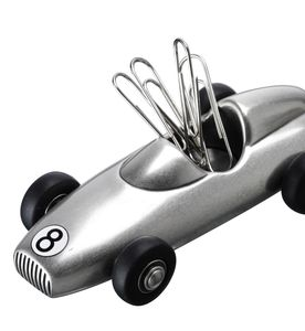 Classic Racing Car Paperclip Holder - desk tidies