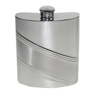 Diagonal Stripe Hip Flask With Personalisation - hip flasks