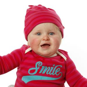 Baby Girls Knotted Striped Pixie Hat