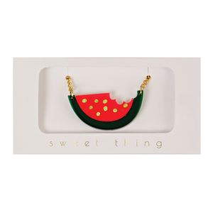 Acrylic Watermelon Sweet Thing Necklace - children's jewellery