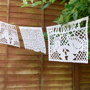 Paper Wedding Bunting From Mexico Handmade