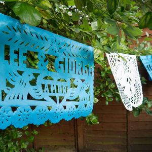 20 Personalised Strips Of Mexican Paper Bunting