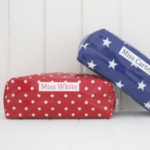 Personalised Oilcloth Pencil Case