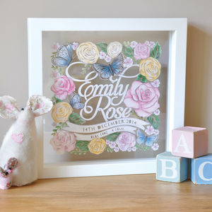 Personalised Baby Girl Birth Celebration Gift