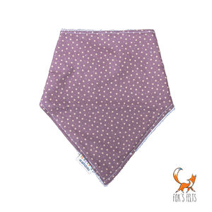 Purple Mini Stars Dribble Bib - baby care