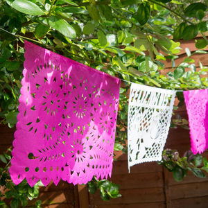 Handmade Paper Bunting For Weddings From Mexico - art & decorations