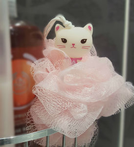 Yeon In Kitty Shower Puff - bathroom