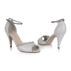 Nathalie Porcelain Leather Wedding Shoes - bridal shoes