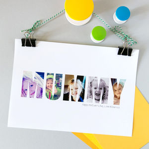 Personalised 'Mummy' Photograph Print Hello Ruth - pictures & prints for children