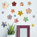 'Vintage Flower' Vinyl Wall Stickers
