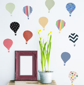 'Children's Hot Air Balloon' Wall Stickers - bedroom