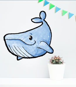 Happy Whale Vinyl Wall Sticker