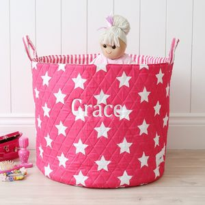 Fuchsia Star Storage Bag - children's room accessories