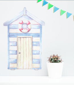 Beach Hut Vinyl Wall Sticker