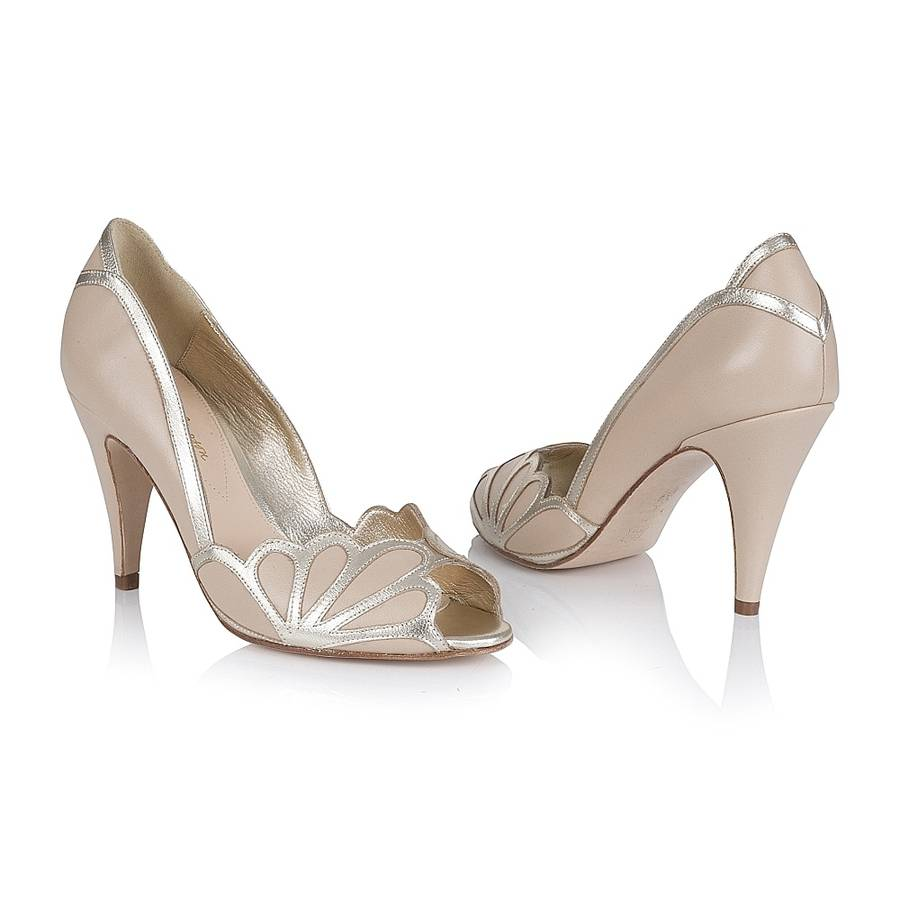Bride Wedding Shoes Peep Toe