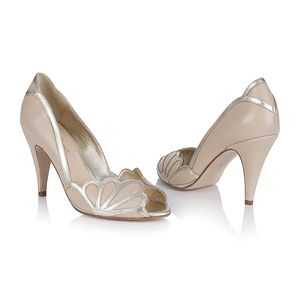 Isabelle Peep Toe Wedding Shoes - bridal shoes