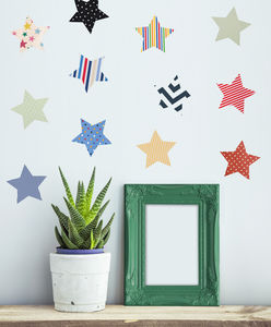 'Fabric Star' Vinyl Wall Stickers - decorative accessories