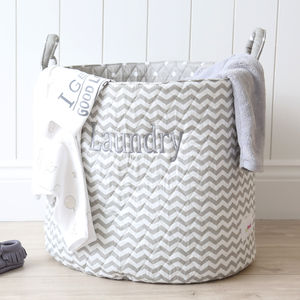 Chevron Print Storage Bag - storage