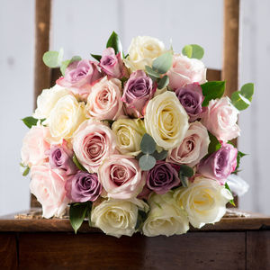 Mixed Roses Fresh Flowers Bouquet - home accessories