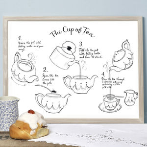 Alice Tait 'Cup Of Tea' Print - posters & prints