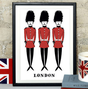 Alice Tait 'London Soldiers' Print - shop by price