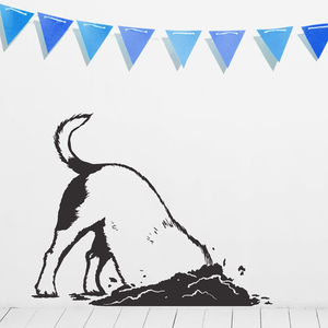 Digging Dog Vinyl Wall Sticker - decorative accessories