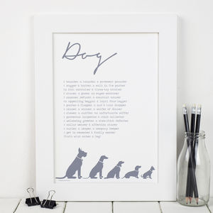 Dog Poem Print - posters & prints
