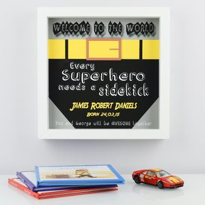 Superhero Welcome To The World Print