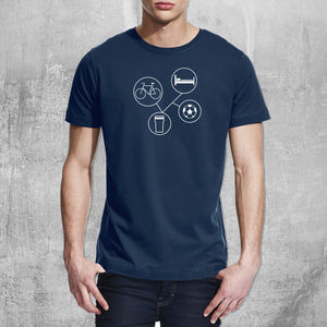 Personalised 'Sports And Hobbies T Shirt' - men's fashion