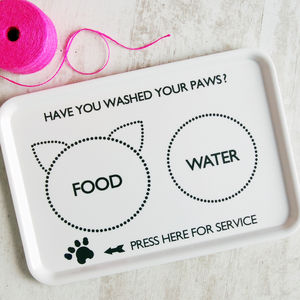 Cat's Food Tray - gifts for pets