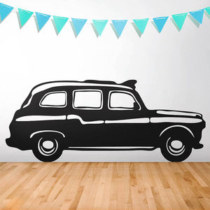 London Cab Vinyl Wall Sticker - bedroom